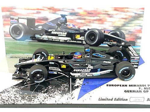 Limited Edition 1:43 scale Minichamps Minardi PS01 F1 Car - Fernando Alonso 2001