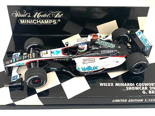 Ltd Edition 1:43 scale Minichamps Wilux Minardi 2004 F1 Showcar - G Bruni Model