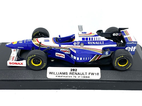 1:43 scale Boxed Onyx Williams Renault FW18 F1 Car - Jacques Villeneuve 1996