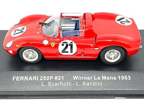 1:43 scale IXO Ferrari 250P Diecast Model - L Scarfiotti & L Bandini 1963 Model