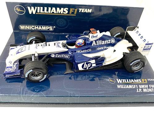 1:43 scale Minichamps Williams BMW FW26 F1 Model Car Juan Pablo Montoya 2004