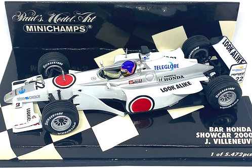 Limited Edition 1:43 scale Minichamps BAR Honda F1 Showcar - J Villeneuve 2000