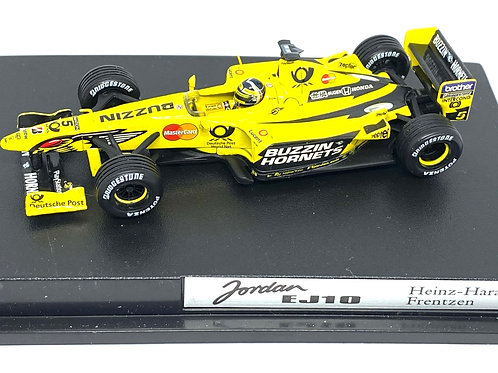 1:43 scale Hotwheels Cars Jordan EJ10 F1 Model, Heinz Harald Frentzen 2000 Model