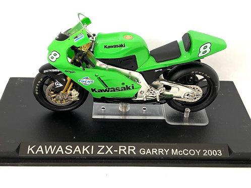 1:24 scale Altaya Kawasaki ZX-RR Moto GP Bike - Garry McCoy 2003