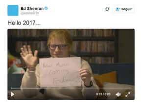Ed Sheeran anunció algo sobre su nuevo disco