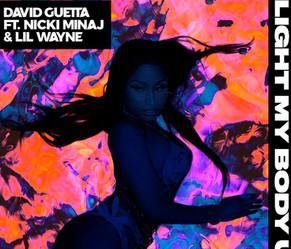 "David Guetta, Nicki Minaj y Lil Wayne hacen ""Light My Body Up""."