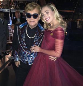 Elton John y Miley Cyrus, juntos en los Grammy