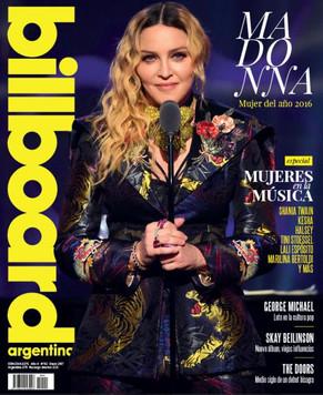Madonna en la portada de Billboard Argentina
