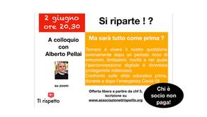 """""""Si riparte !?"""" videoconferenza con Alberto Pellai, martedì, 2 giugno 2020, ore 20.30"""