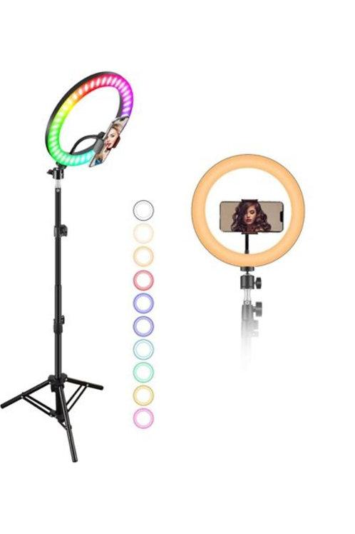 Кольцевая лампа MJ26 RGB LED Soft Ring Ligth 26cm + штатив