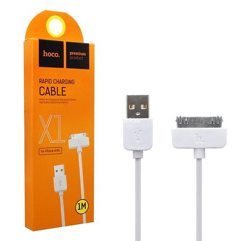 Провод зарядки Hoco X1 iPhone4/4s