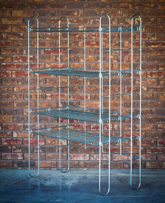 Portable and adjustable shelving to serve a multitude of uses. Can build to suit.