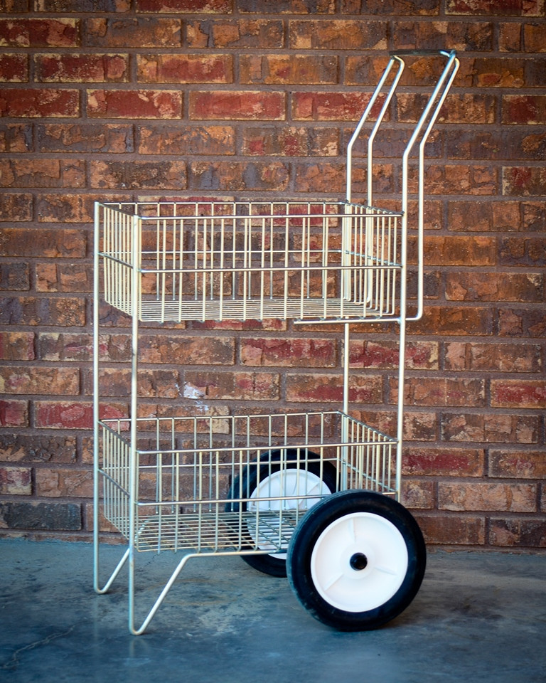 2 Basket Utility Cart - use for mail, refreshments or books. Heavy duty axle and easy maneuverability.