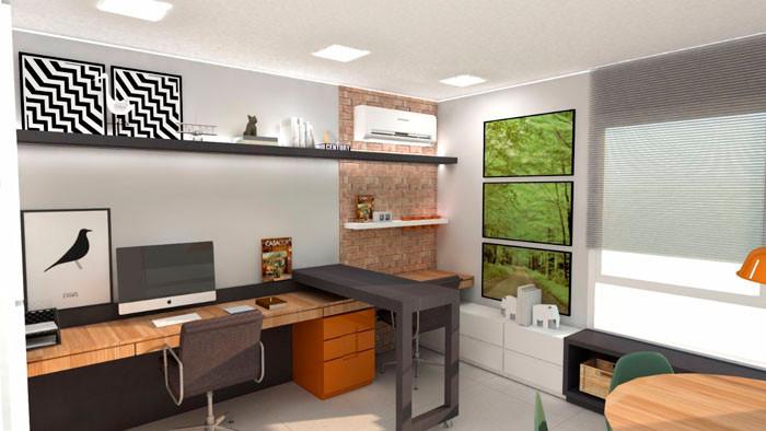 Escritório, projeto Alves+Zoppas Arquitetura
