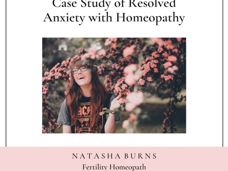 Case Study of Resolved Anxiety with Homeopathy