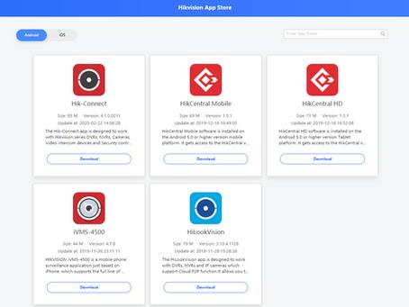 Android alkalmazások a Hikvision App Store-ból