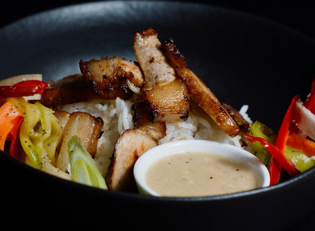 Bai Sach Chrouk - Kambodschanisches Schwein auf Reis