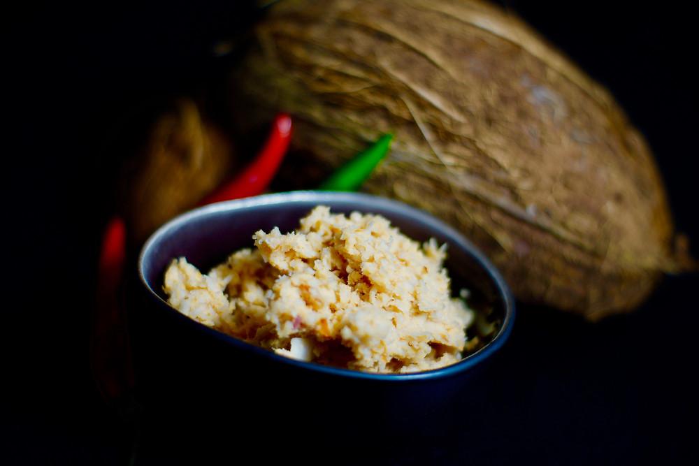 Coconut Sambal - Kokosnusswürzpaste aus Sri Lanka