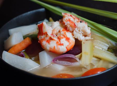 Sinigang - philippinische Suppe