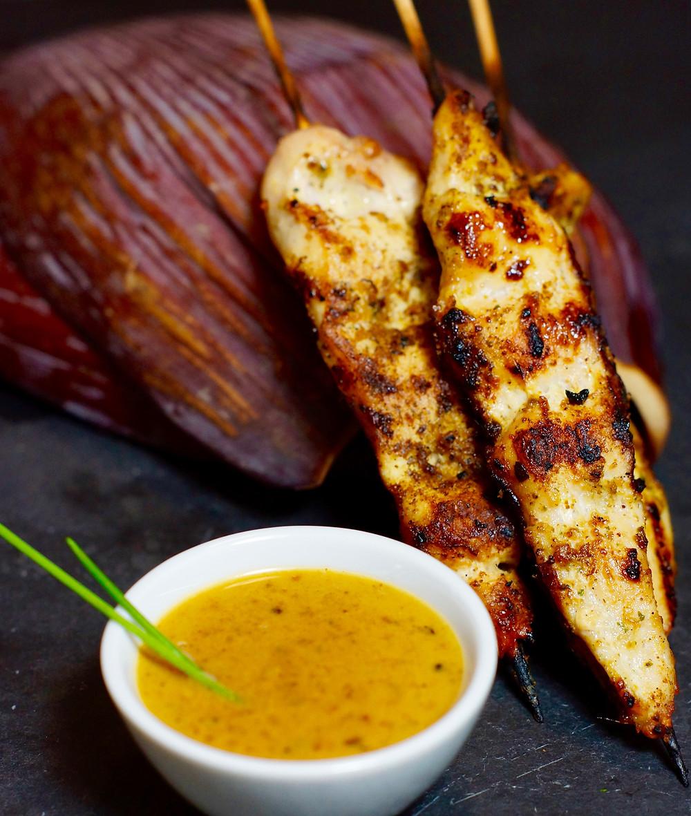 Chicken Sate Spieße mit Erdnusssauce cooking is a journey