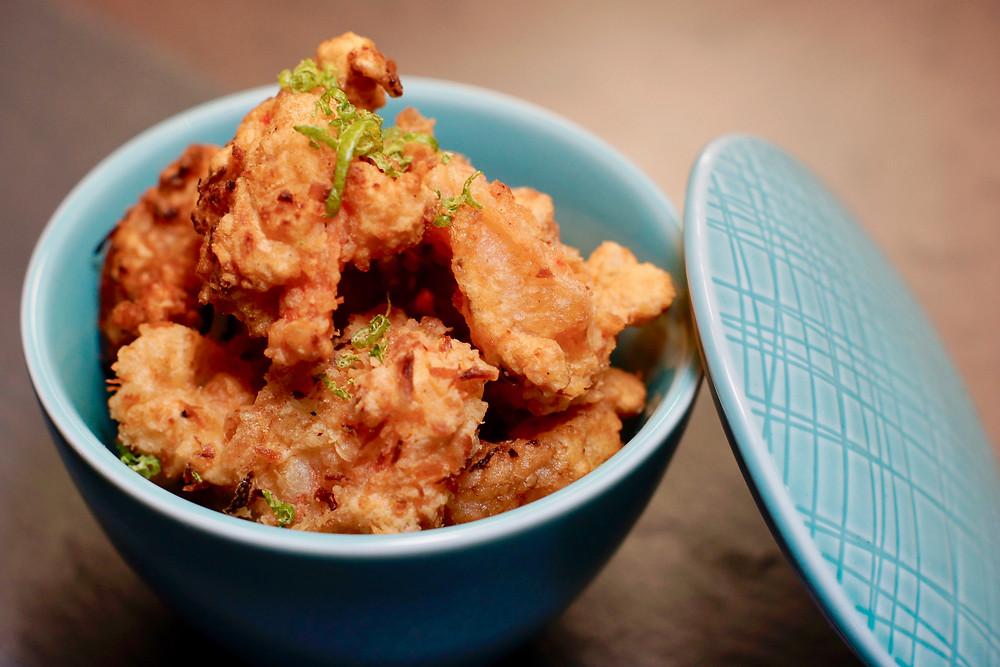 Crispy Shrimps im Limettenkokosmantel