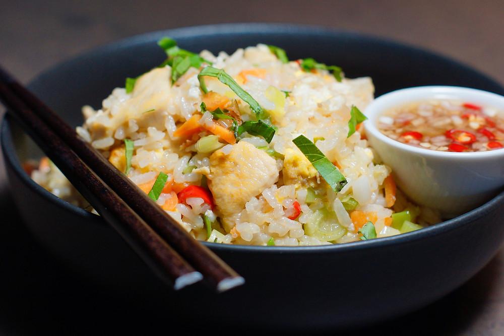 Fried Rice - gebratener Ries Thailand