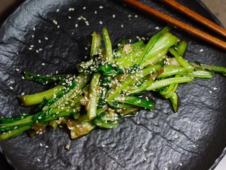 Choi Sum - gebratenes Gemüse aus dem Wok