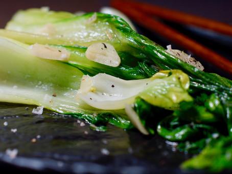 Pak Choi - asiatischer Weißkohl aus dem Wok