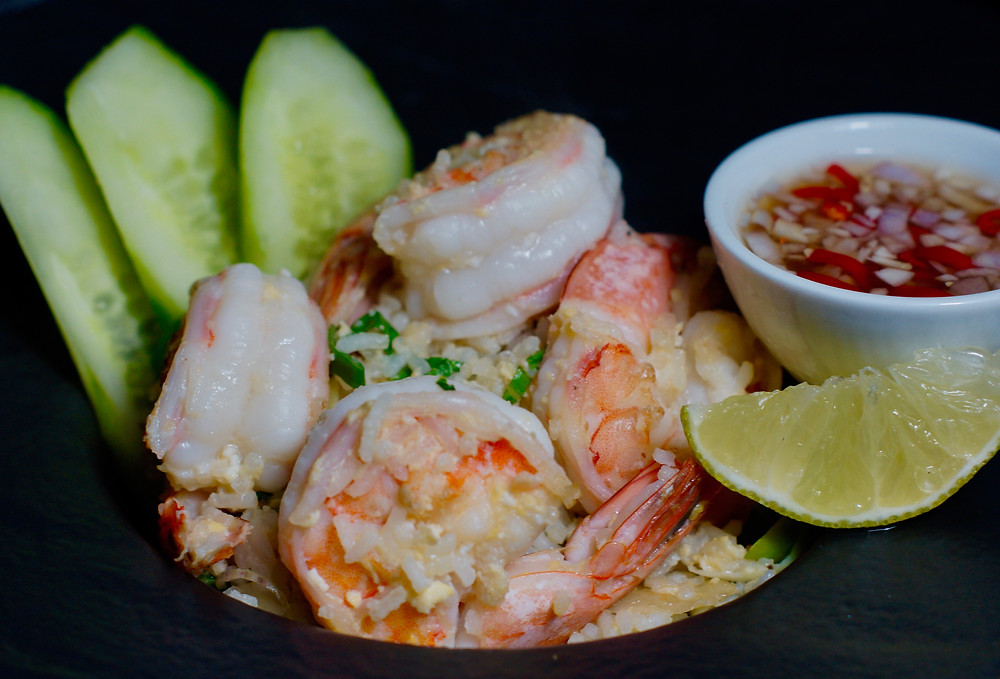 Gebratener Reis mit Shrimps - Khao Pad Goong cooking is a journey