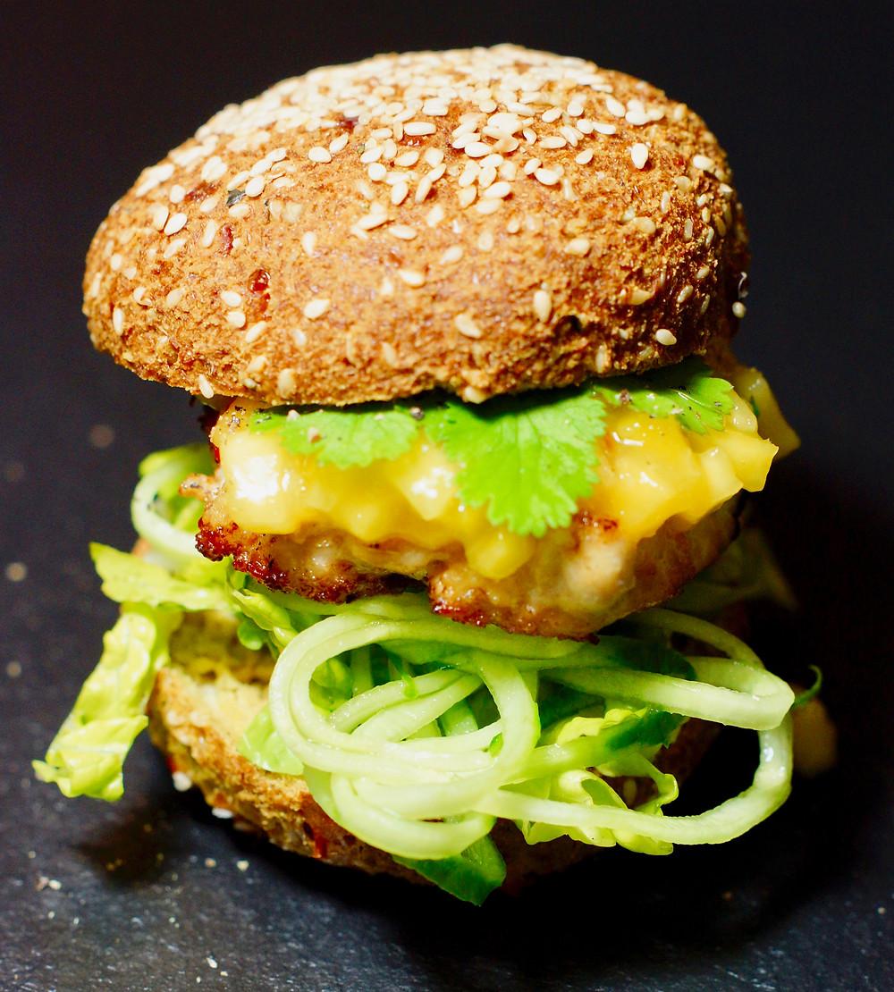 Chickenburger Asiatisch
