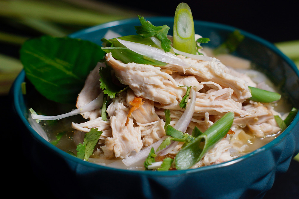 Laotische Reisnudelsuppe - Khao Piak Sen