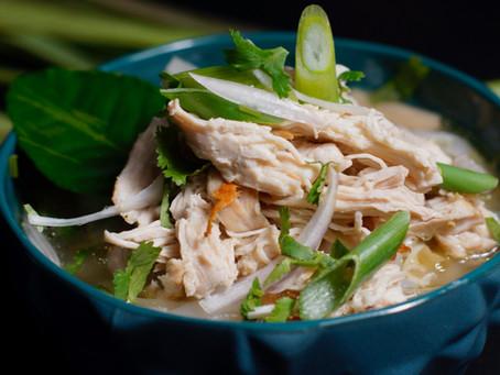 Khao Piak Sen - Laotische Reisnudelsuppe