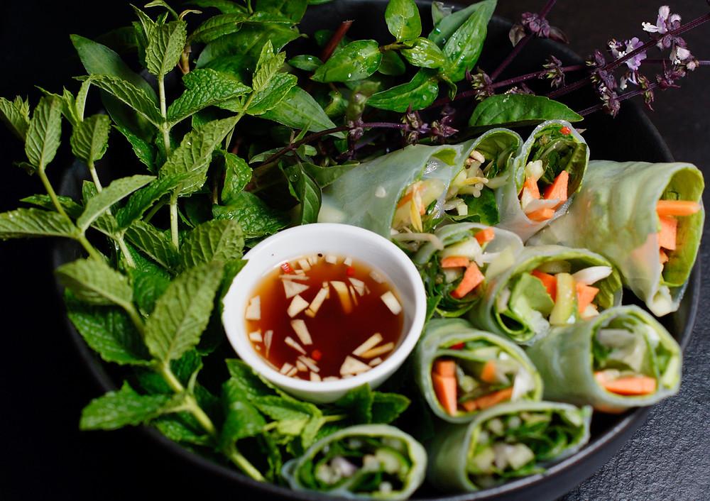 Vegetarische Sommerrollen aus Vietnam