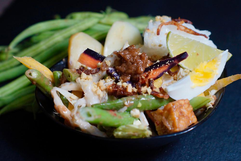 Gado Gado - Gemüsesalat mit Tofu