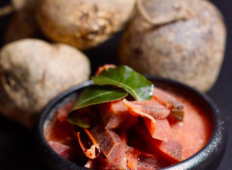 Bīṭrūṭ curry - Rote Beete Curry  aus Sri Lanka