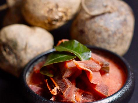 Rote Beete Curry aus Sri Lanka - Bīṭrūṭ curry