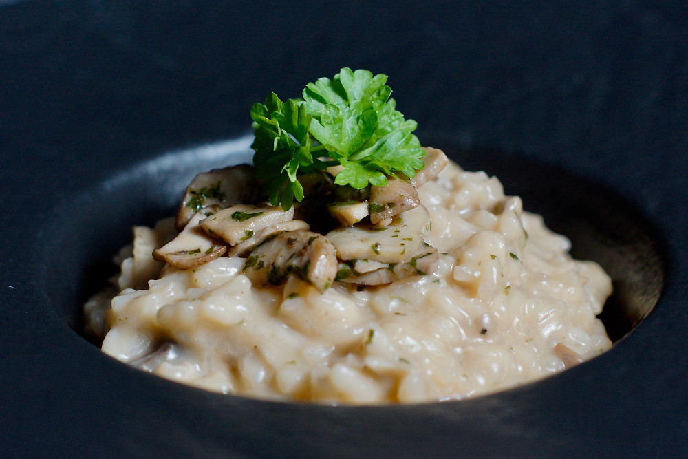 Risotto mit Steinpilzen - Risotto ai funghi porcini - cooking is a journey