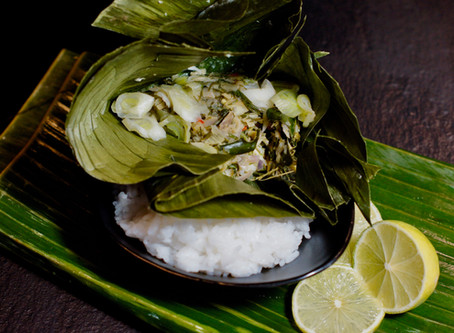 Mok Pa - Laotischer Fisch im Bananenblatt