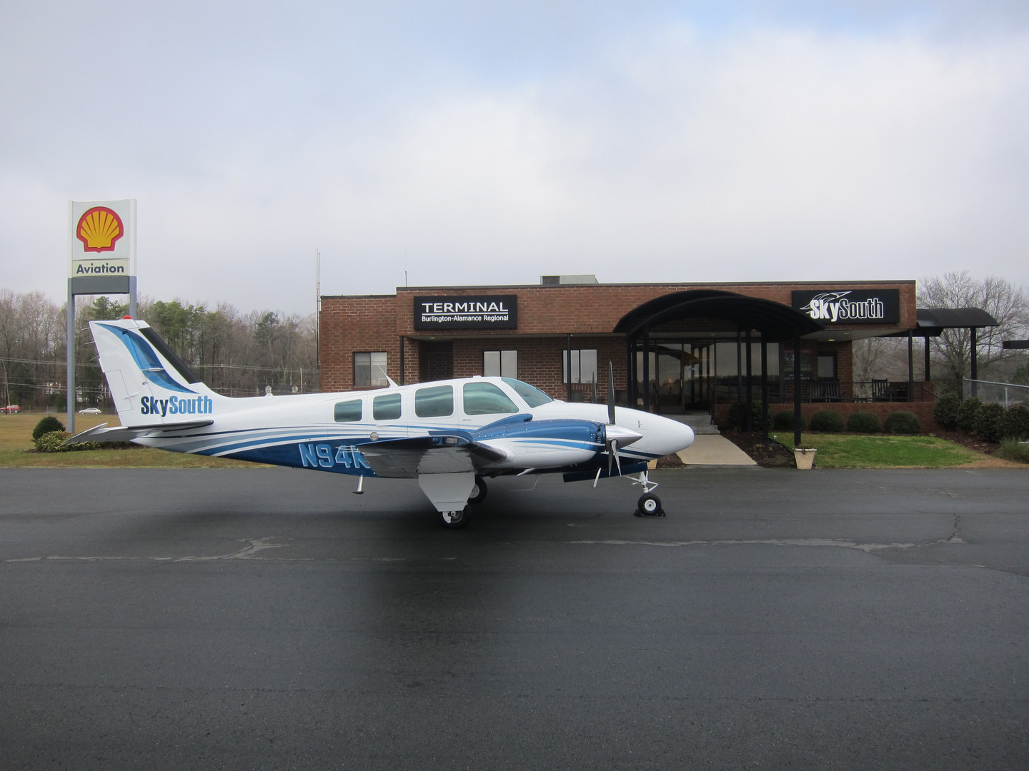 Baron Exterior in front of FBO