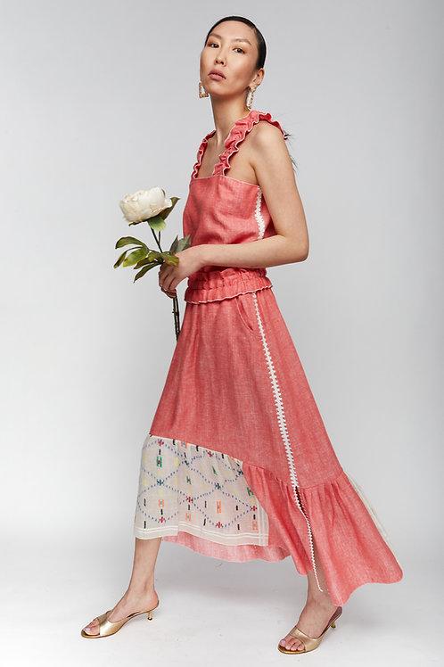 JASMINE CORAL SKIRT-DRESS