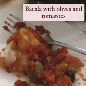 Baccalà with Tomato and Olives