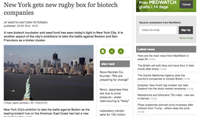 MedWatch: New York gets new rugby box for biotech companies