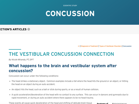 THE VESTIBULAR CONCUSSION CONNECTION