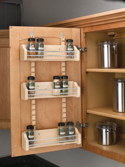 Door Mounted Adj Spice Rack in Cabinet
