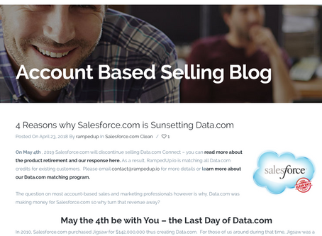 4 Reasons why Salesforce.com is Sunsetting Data.com