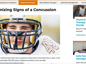 Recognizing Signs of a Concussion