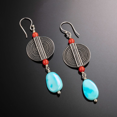Turquoise and coral earrings.jpg
