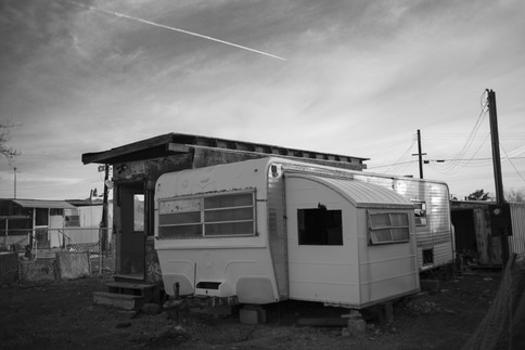 During the 50's & 60's Bombay Beach was the Southern California Riviera.  There were yacht clubs, hotels, restaurants, nightclubs and resorts.  It attracted nearly a million visitors a year.  The modernist mobile homes were vacation residences for many who made the short jaunt from Palm Springs and Los Angeles.