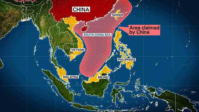 Geographical location of South China Sea