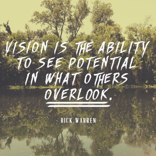 leading an organized life needs a clear and crystal vision